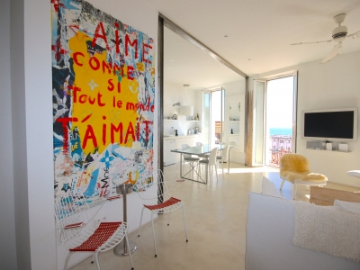 MODERN SEA VIEW  3 BEDROOMS 8 mn from Palais des Festivals